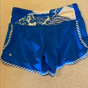 Blue Lululemon Shorts EUC